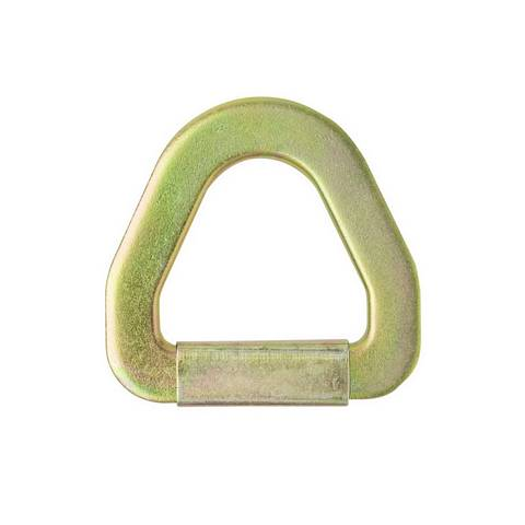 2 in. Flat Stamped D-Ring w/ Abrasion Clip